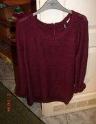 Pilnie poszukiwany burgundowy sweter h&m z zipem