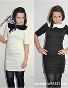 sukienka pensjonarka biała