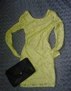 NOWA koronkowa sukienka dekolt na plecach 34