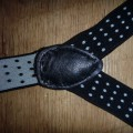 Szelki w kropki czarne białe cropp