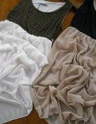 nowa sukienka błyszcząca 45 zł dłuższy tył