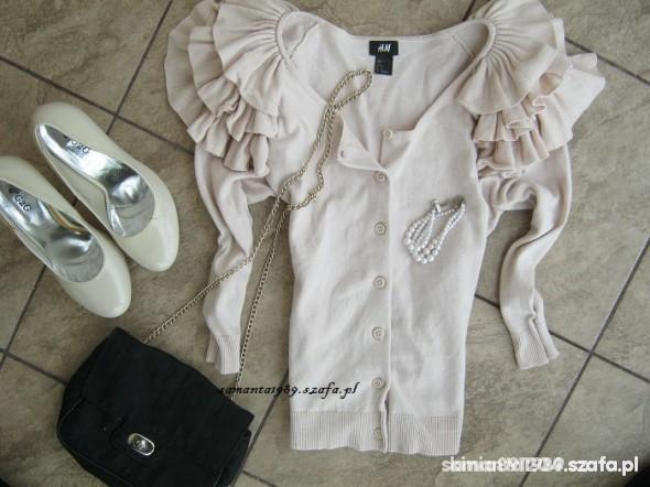 Ubrania sweterek H&M falbanki