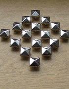 ĆWIEKI srebrne PIRAMIDKI 12mm