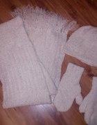 Czpa szal i rękawiczki ręcznie robione