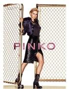 Spódnica Pinko Italy skóra zip pikowana ołówek...
