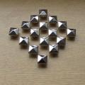 Piramidki ćwieki srebrne 12mm