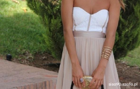 nowa kloszowana sukienka asos koronka