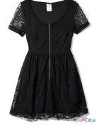 czarna sukienka koronkowa Croop...