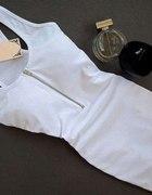 bokserka biała zip