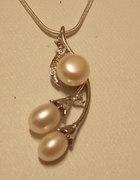 Delikatny naszyjnik z perłami naturalnymi NOWY