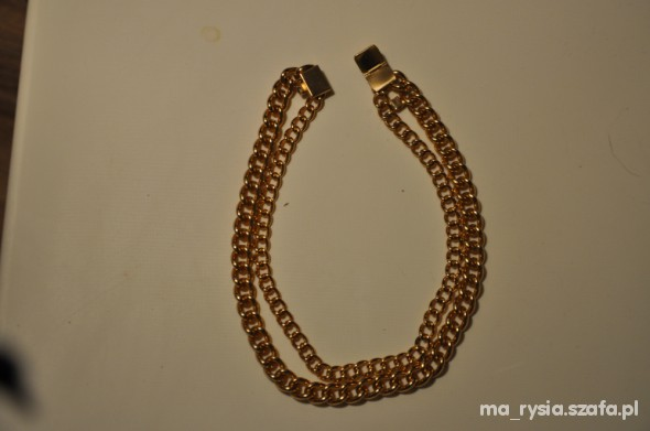 h&m blog cuff chocker gold złoty hip hop zara lana