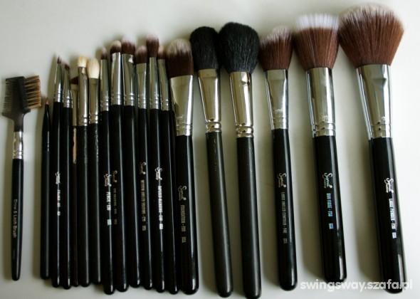 Pędzle do makijażu pojedyncze zestawy