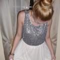 Bajkowa sukienka rozkloszowana cekiny H&M