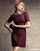 Sukienka z cekinowym kołnierzykiem H&M 42 i 36