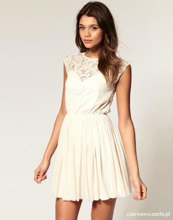 e5c246bb45 ASOS NOWA KREMOWA SUKIENKA Z KORONKOWA GORA w Suknie i sukienki ...