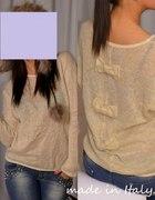 Sweter bluzka z kokardkami
