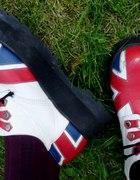 Creepers creepersy glany flaga UK Anglia punk skin...