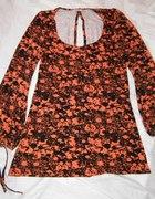 Czarno pomarańczowa bluzka Vila...