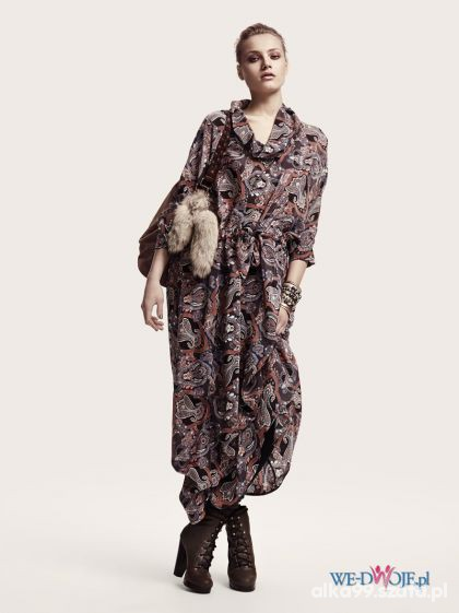 H&M sukienka maxi zwiewna jesienna boho...