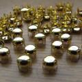 złote ćwieki pukle okrągłe srednica 5mm