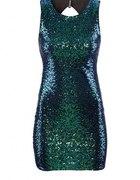 Zielona cekinowa sukienka z H&M
