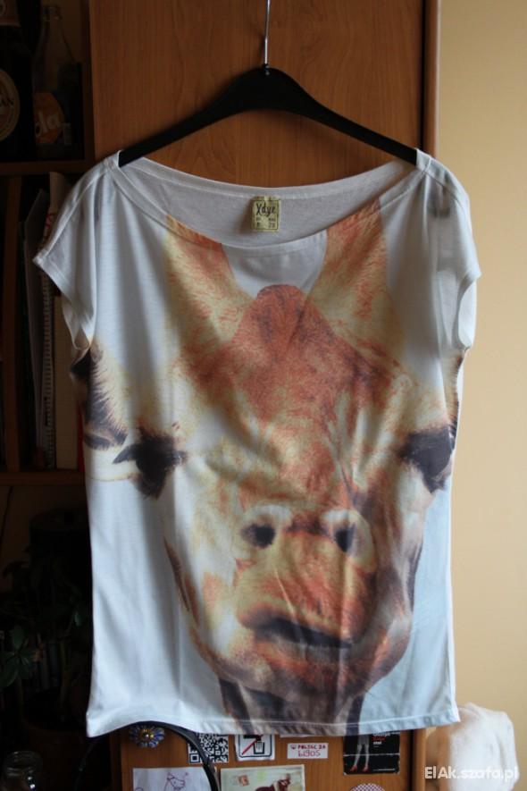 T-shirt oryginalny tshirt Zara XDYE z nadrukiem