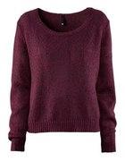 Burgundowy sweter