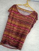 piękna modna koszulka fishbone l aztec indianska