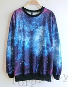 bluza galaxy print galaktyka 4 wzory