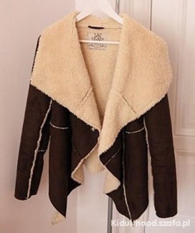 Odzież wierzchnia kożuszek waterfall płaszcz asymetryczny xs s 34 36