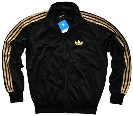 adidas bluza czarno złota