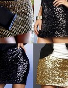mega złota cekinowa spódniczka cudo