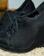 New Look 37 czarne koturny