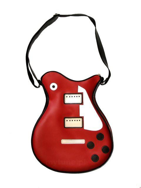 torba gitara czerwona les paul