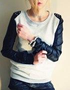 Bluza skórzane rękawy elementy
