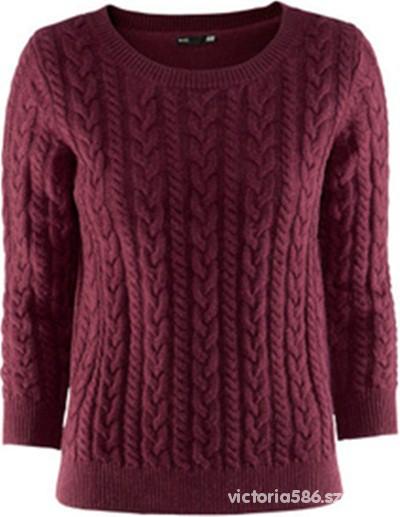 Bordowy sweter H&M