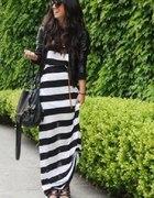 h&M sukienka maxi w pasy