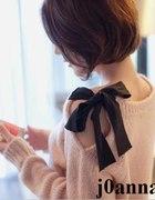 pink różowy sweterek z wstążką