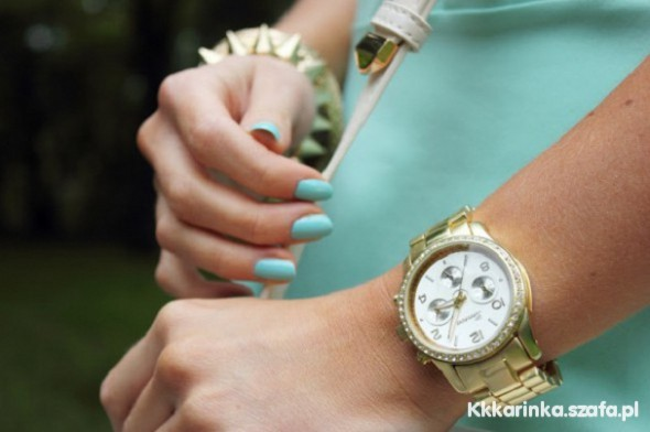 Zegarki ZŁOTY ZEGAREK MICHAEL KORS CYRKONIE HIT