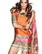 Pomarańczowa sukienka H&M