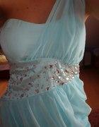 miętowa sukienka kamienie...
