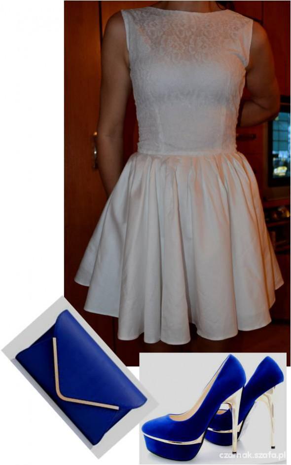 Na specjalne okazje Zestaw z białą sukienką rozkloszowaną