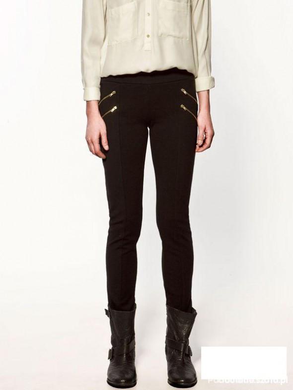 Spodnie Getry z wysokim stanem ZARA czarne