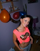 Neonowa sexi bluzka
