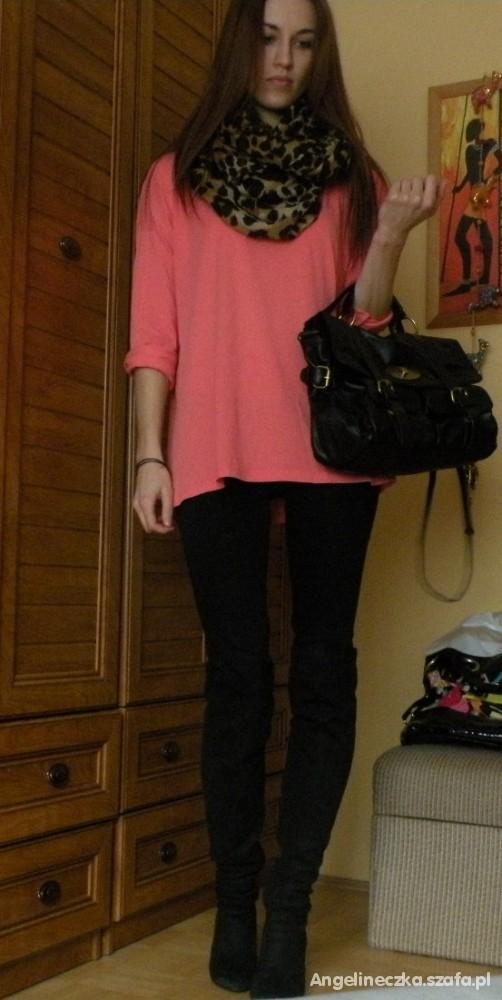 Mój styl panterka neon i czerń