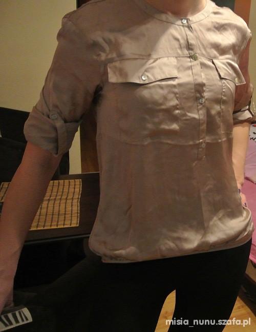 Bluzka koszula khaki Zara S w Koszule Szafa.pl