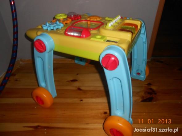Zabawki Pchacz stoliczek edukacyjny 2 w 1