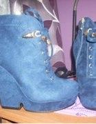 Niebieski botki