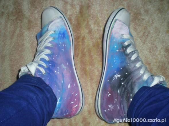 Trampki galaxy własnoręcznie malowane