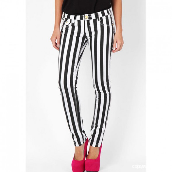 takie spodnie w paski rozmiar XS